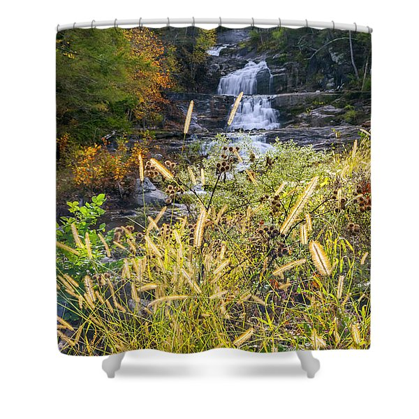 Kent Falls Shower Curtain by Bill  Wakeley