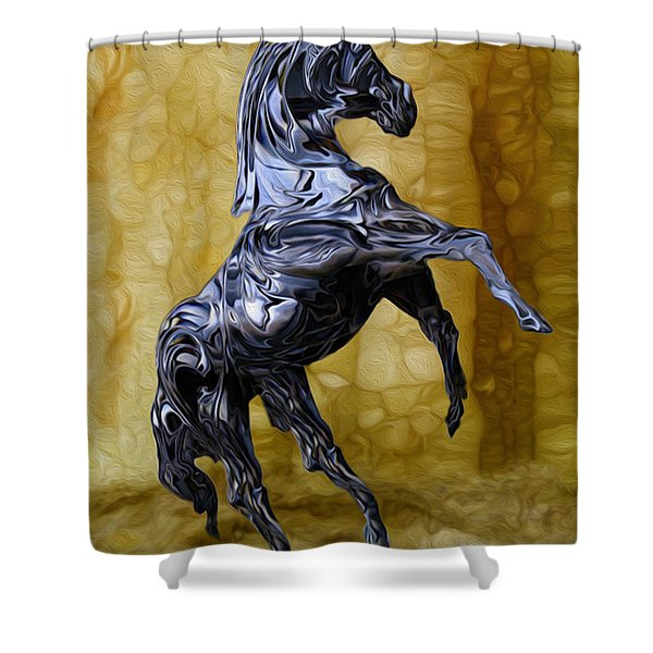 Kickin' Shower Curtain by Jack Zulli