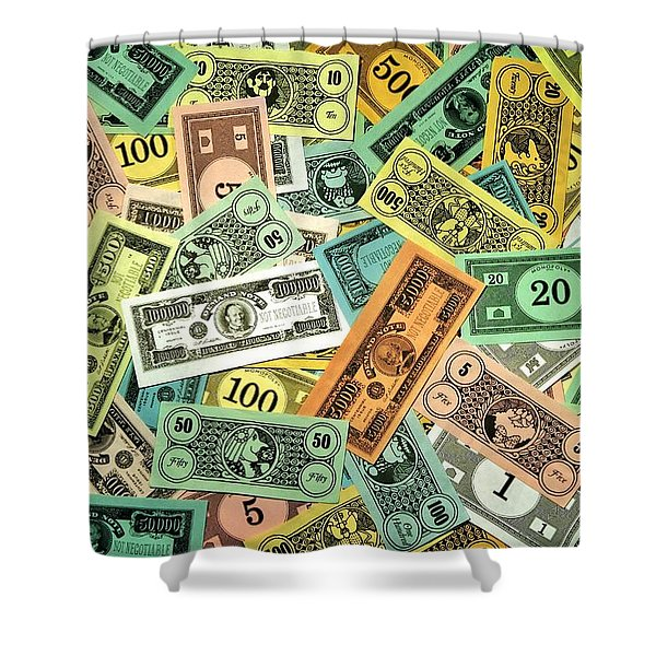 Kid Cash Shower Curtain by Benjamin Yeager