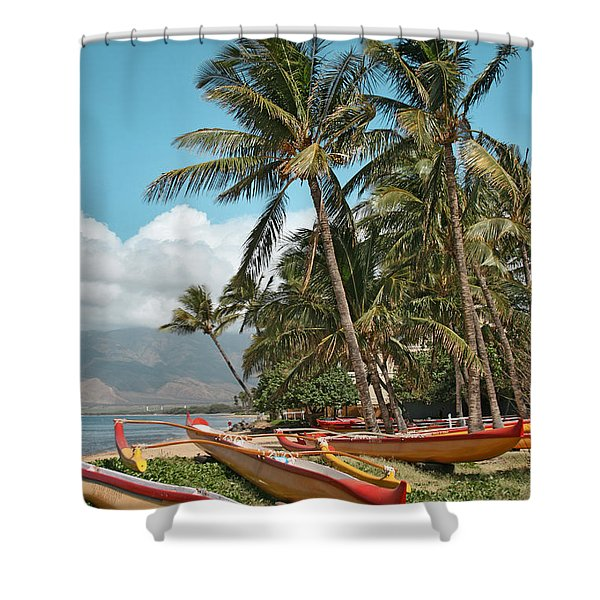 Kihei Maui Hawaii Shower Curtain by Sharon Mau