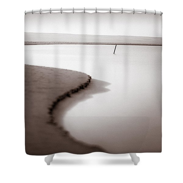 Kijkduin Beach Shower Curtain by Dave Bowman