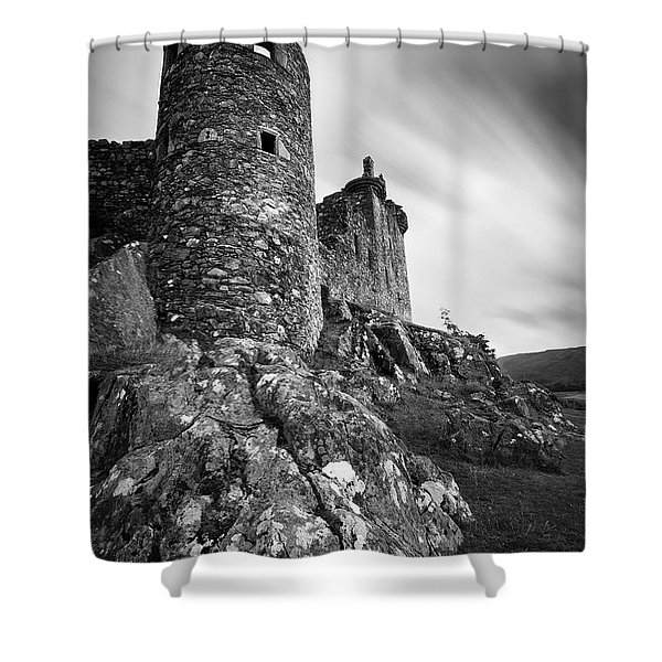 Kilchurn Castle Shower Curtain by Dave Bowman