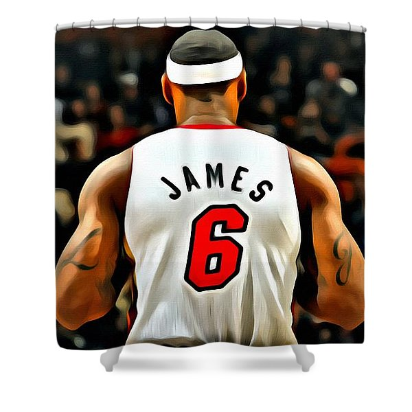 King James Shower Curtain by Florian Rodarte