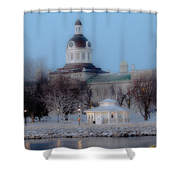 Kingston City Hall Shower Curtain by Michel Soucy