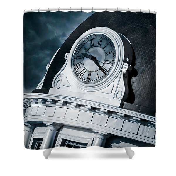 Kingstons' Clock Shower Curtain by Michel Soucy