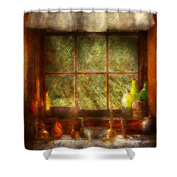 Kitchen - Table Setting Shower Curtain by Mike Savad