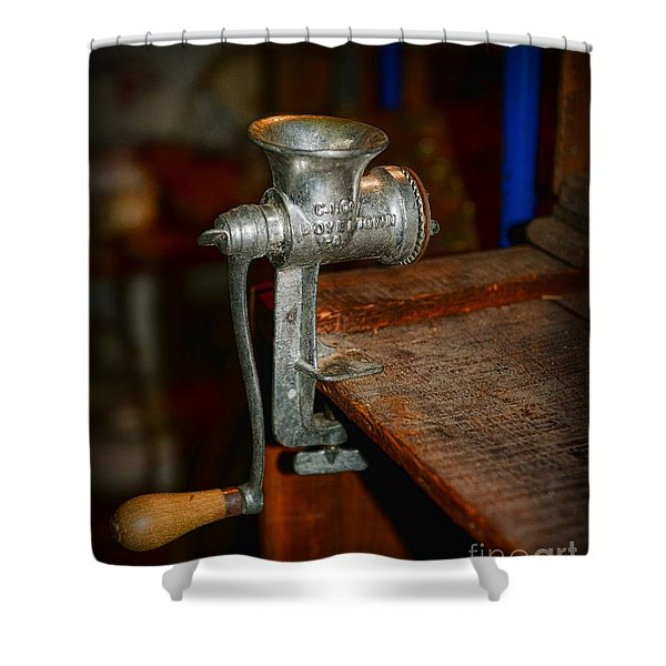 Kitchen - The Meat Grinder Shower Curtain by Paul Ward