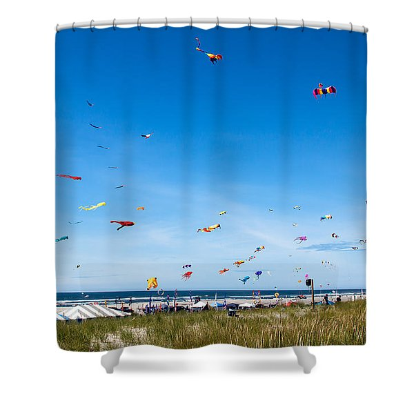 Kite Festial Shower Curtain by Robert Bales
