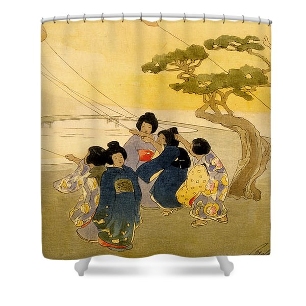 Kites Shower Curtain by Nomad Art And  Design