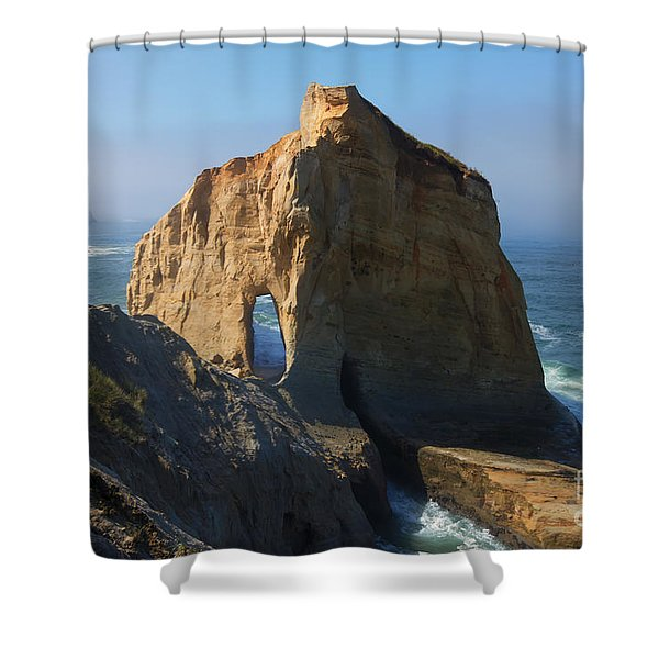Kiwanda Mist Shower Curtain by Mike  Dawson