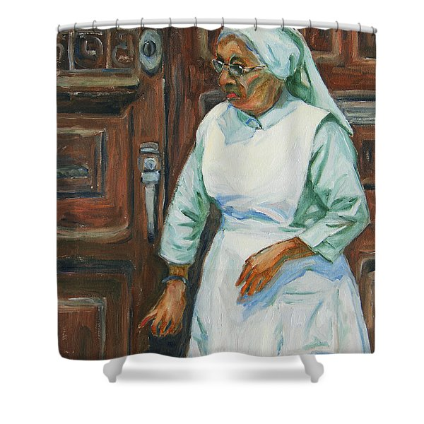 Knocking On Heaven's Door Shower Curtain by Xueling Zou