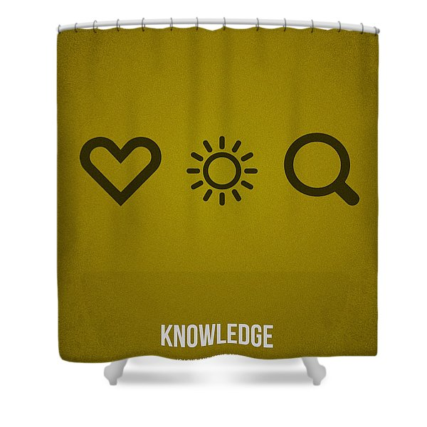 Knowledge Shower Curtain by Aged Pixel
