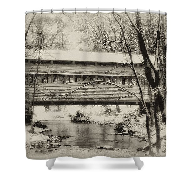 Knox Valley Forge Covered Bridge Shower Curtain by Bill Cannon