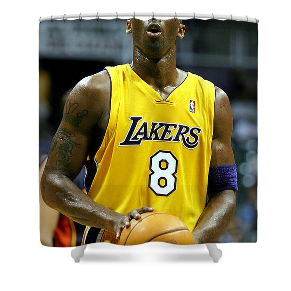 Kobe Bryant Shower Curtain by Mountain Dreams