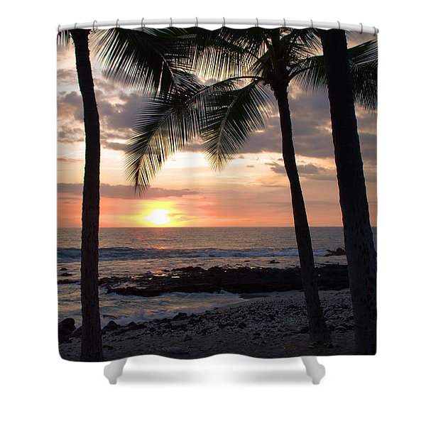Kona Sunset Shower Curtain by Brian Harig