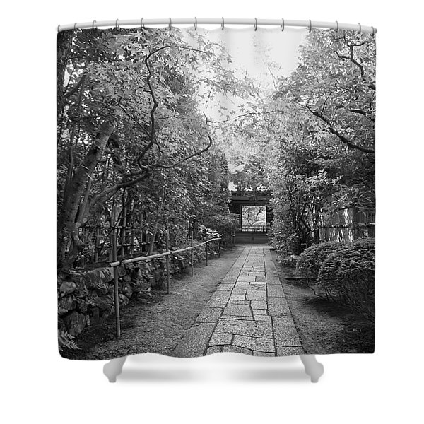 KOTO-IN TEMPLE STONE PATH Shower Curtain by Daniel Hagerman