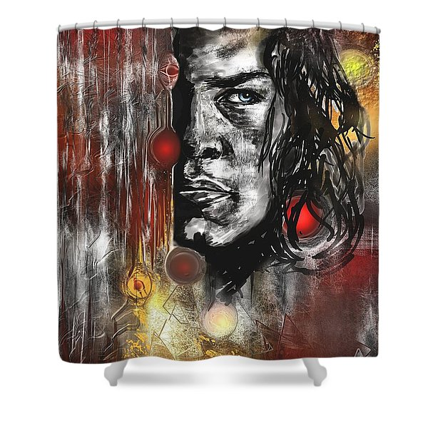 Kyle Shower Curtain by Francoise Dugourd-Caput