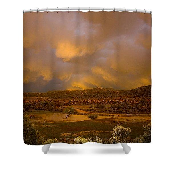 La Boca Rain Shower Curtain by Jerry McElroy