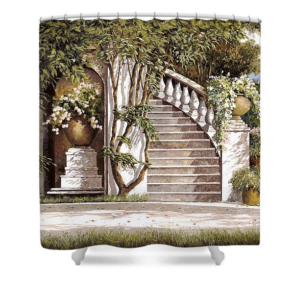 la scalinata Shower Curtain by Guido Borelli