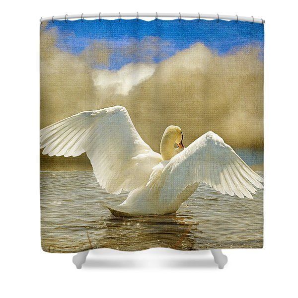 Lady-In-Waiting Shower Curtain by Lois Bryan