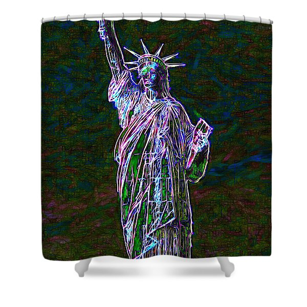 Lady Liberty 20130115 Shower Curtain by Wingsdomain Art and Photography