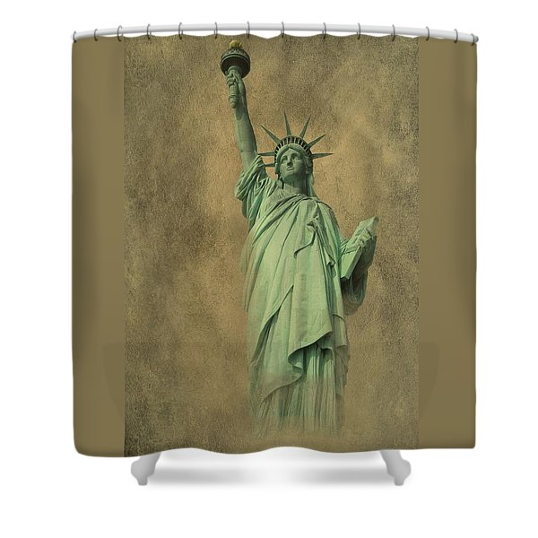 Lady Liberty New York Harbor Shower Curtain by David Dehner