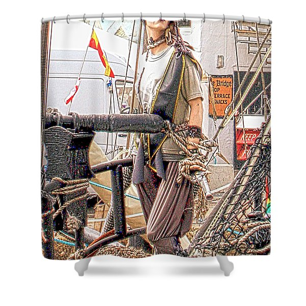 Lady Pirate of Penzance Shower Curtain by Terri  Waters
