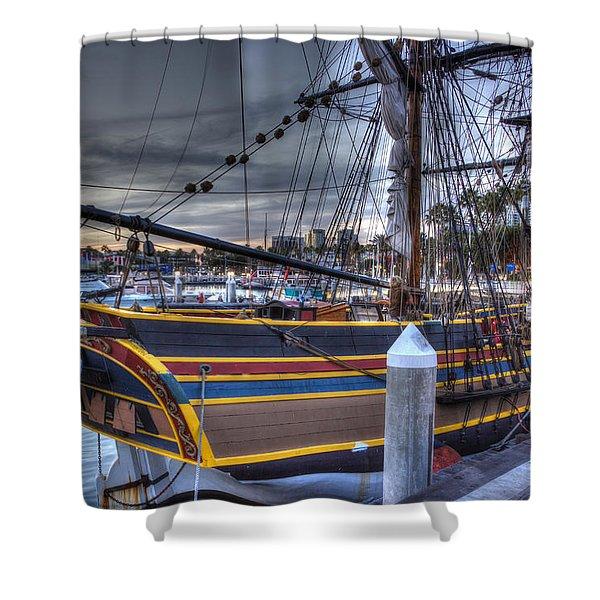 Lady Washington Shower Curtain by Heidi Smith