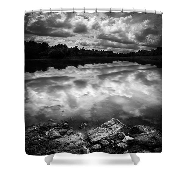 Lake Auburn Twilight Shower Curtain by Bob Orsillo