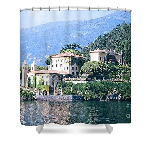 Lake Como Palace Shower Curtain by Greta Corens