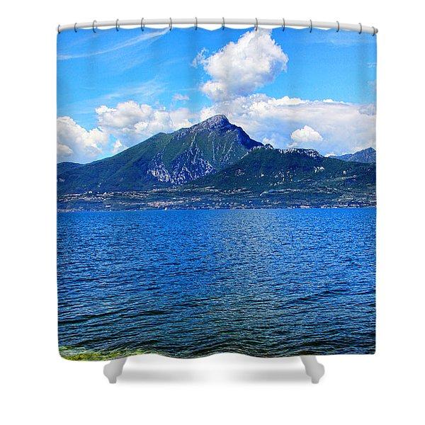 Lake Garda Paradise Shower Curtain by Mariola Bitner