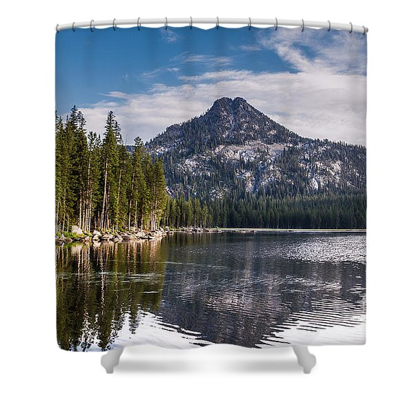 Lake Reflection Shower Curtain by Robert Bales