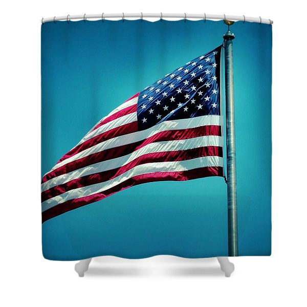 Land of The Free Shower Curtain by Dan Sproul