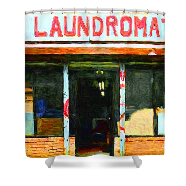 Laundromat 20130731pop Shower Curtain by Wingsdomain Art and Photography