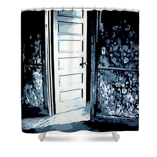 Lauras Painting Shower Curtain by Luis Ludzska