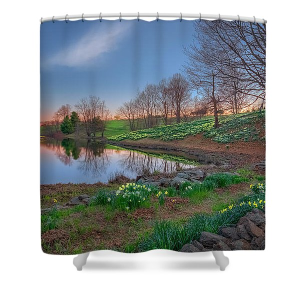 Laurel Ridge Sunset Shower Curtain by Bill  Wakeley