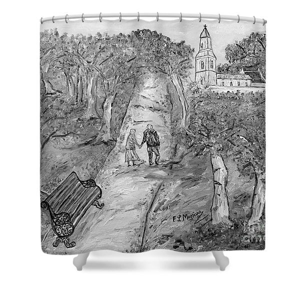 L'autunno della vita Shower Curtain by Loredana Messina