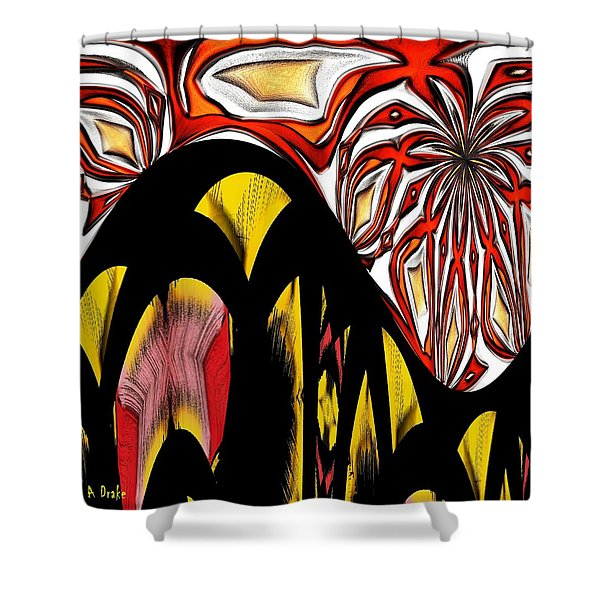 Lava Flow Shower Curtain by Alec Drake