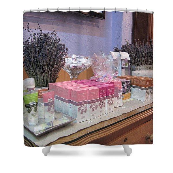 Lavender Museum Shop 2 Shower Curtain by Pema Hou