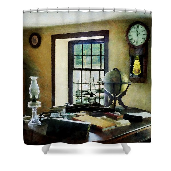 Lawyer - Globe Books and Lamps Shower Curtain by Susan Savad
