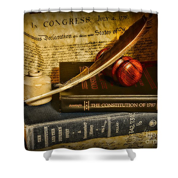 Lawyer - The Constitutional Lawyer Shower Curtain by Paul Ward