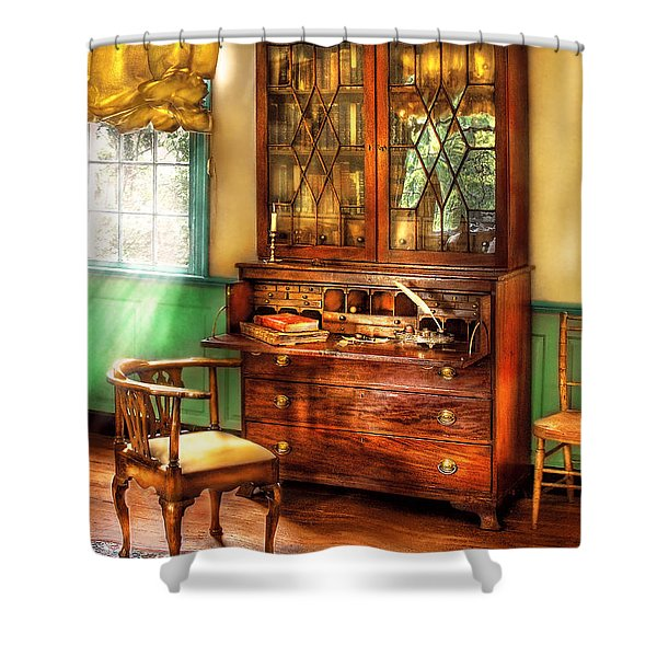 Lawyer - The Lawyers study Shower Curtain by Mike Savad