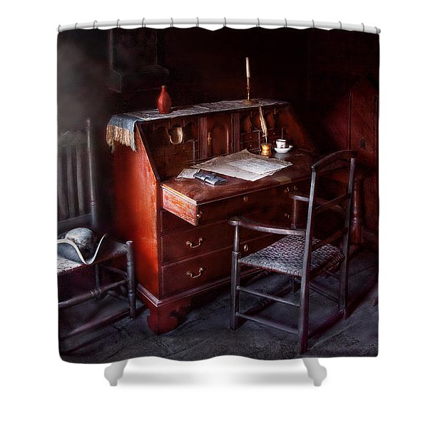 Lawyer - Writer - Where law began Shower Curtain by Mike Savad