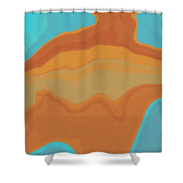 Layers And Form Shower Curtain by David G Paul