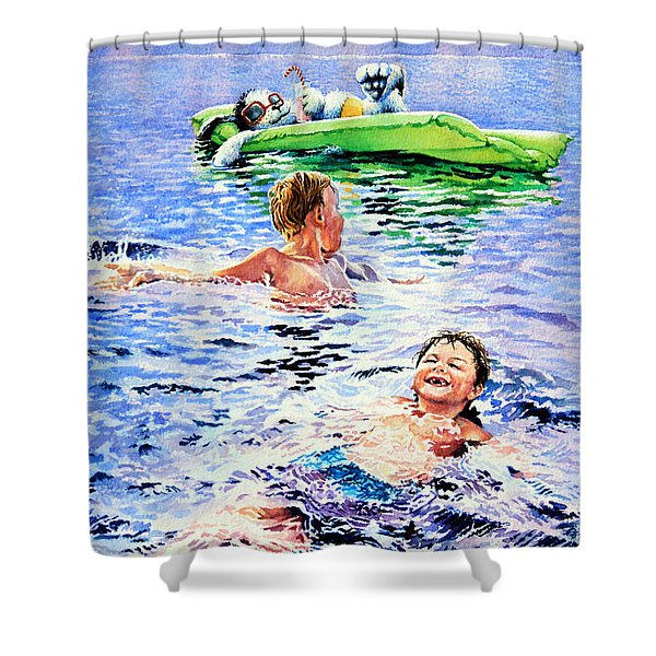 Lazy Hazy Crazy Days Shower Curtain by Hanne Lore Koehler
