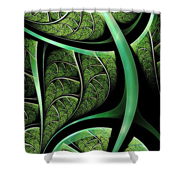 Leaf Texture Shower Curtain by Anastasiya Malakhova