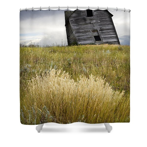 Leaning A Little Shower Curtain by Bob Christopher