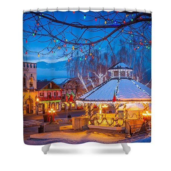 Leavenworth Gazebo Shower Curtain by Inge Johnsson