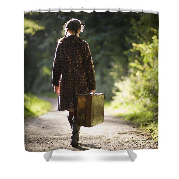 Leaving Home Shower Curtain by Lee Avison