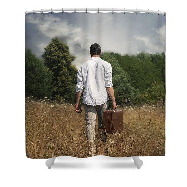 Leaving Shower Curtain by Joana Kruse